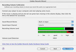 Golden Records Calibrate Recording Volume